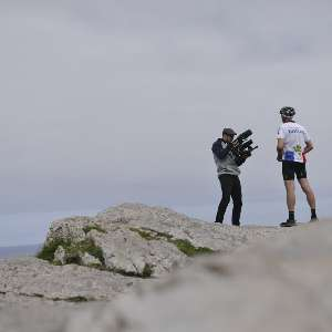 central/2016TransatlanticWay/  2016-06-18 Roland Guillon at Malin Head, Ireland, Roland Guillon, Transatlanticway, bicyle race, coastline, unsupport